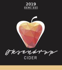 Øksendrup Cider label